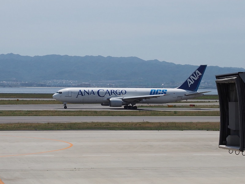 ANA Cargo B767 in Kansai International Airport