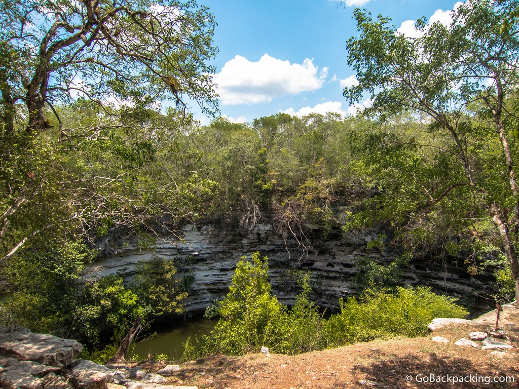 During times of drought, the Mayans would perform sacrifices at this cenote, named Cenote Sagrado (Sacred Cenote).