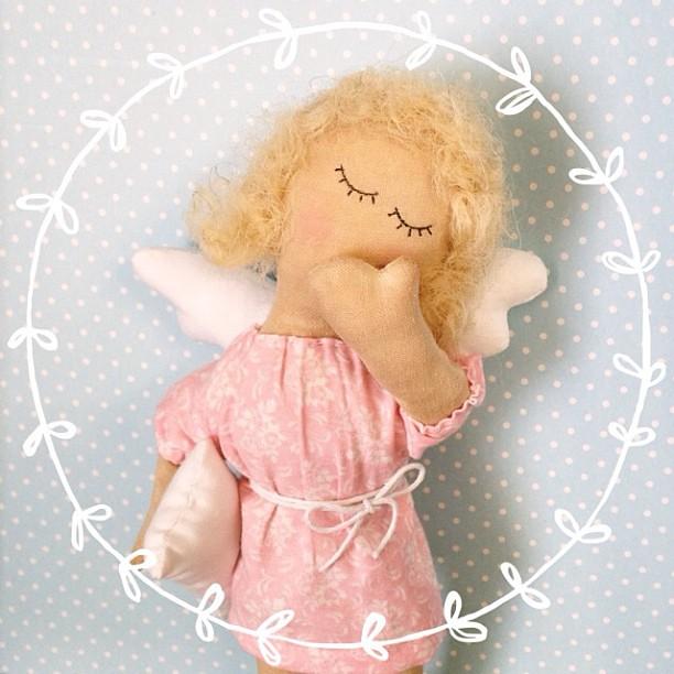 Сонный ангел-подарок маленькой девочке (точнее, ее родителям)) на крестины. #нежнятина