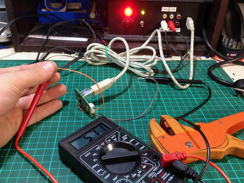 Power Wires Soldered to USB Port