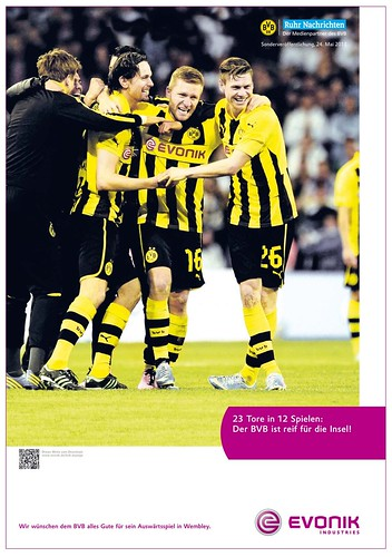 Werbung von Evonik zu Borussia Dortmund (BVB): 23 Tore in 12 Spielen: Der BVB ist reif für die Insel!