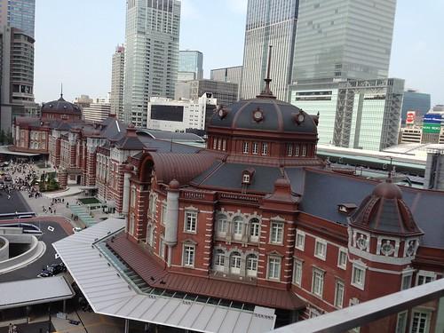 KITTE から眺める東京駅