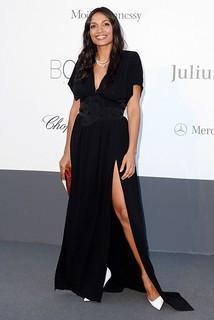 Rosario Dawson White Pumps Celebrity Style Womens Fashion