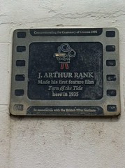 Photo of J. Arthur Rank film cell plaque