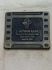 J Arthur Rank plaque