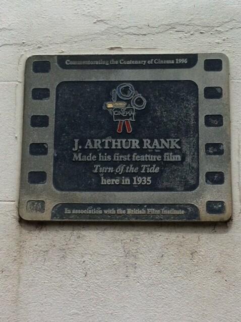 Photo of J. Arthur Rank film cell plaque
