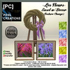 PIXEL CREATIONS - LES FLEURS EASEL W DECOR TEXTURE CHANGE