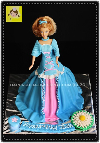 Doll Cake for Tessa 3rd Bday