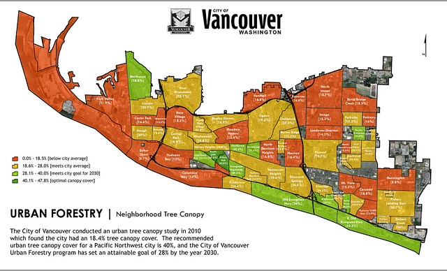 Neighborhood Canopy Cover in Vancouver
