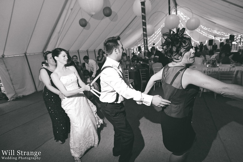 Conga at wedding reception