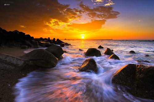 太陽 船 日出 海邊 南濱公園 港口