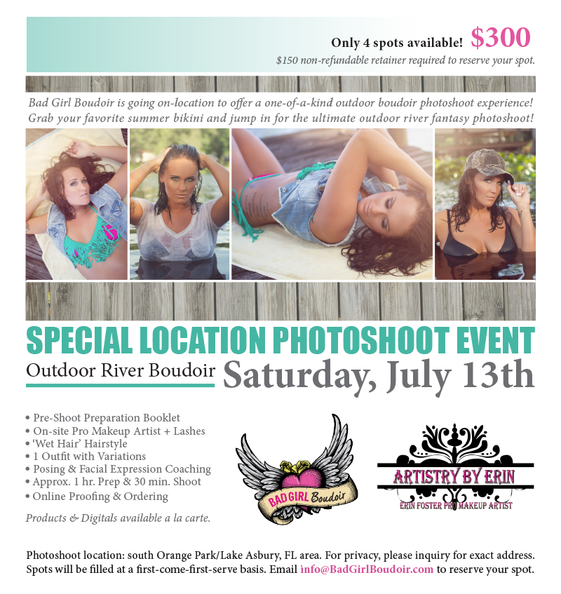 Outdoor River Boudoir Photography Marathon Event