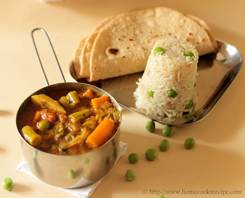 Mixed vegetable sabzi