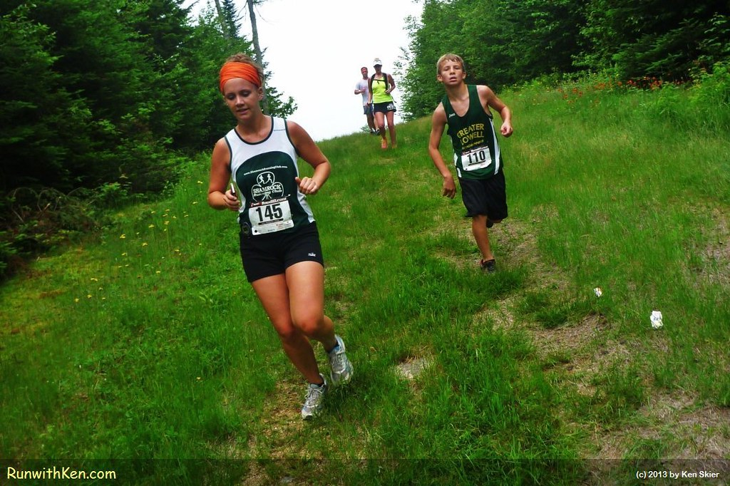 The Loon Mountain Race isn't ALL uphill.  One part is sweet and steep...DOWN! by runwithken