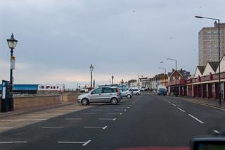 En direction du centre d'Herne Bay