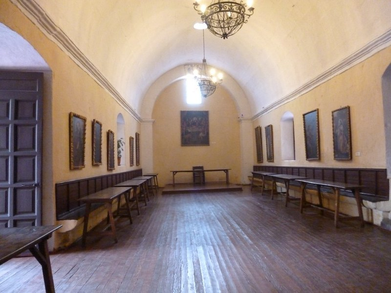 Hall in Santa Catalina where nuns ate
