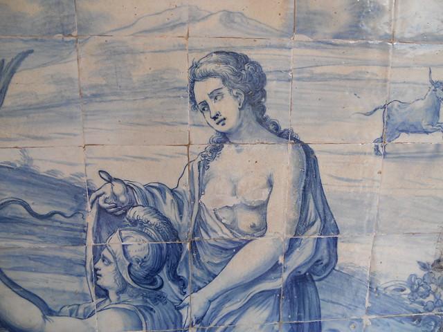 Azulejos portugueses de Bartolomeu Antunes de Jesus (século XVIII) depredados pelo moralismo, Convento da Igreja de São Francisco, Salvador (BA)