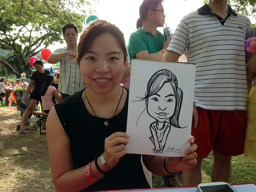 caricature live sketching for Diageo Family Day 2013