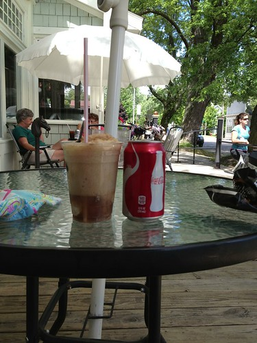 Coke float in Northport on the return