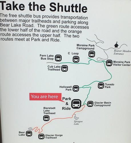shuttle bus Rocky Mountain NP