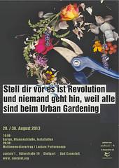 Stell dir vo es ist Revolution und niemand geht hin, weil alle sind beim Urban Gardening Front
