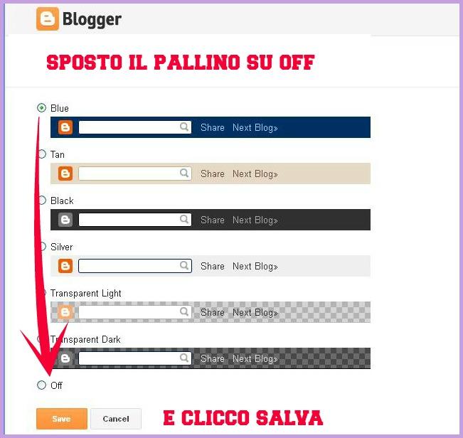 tipi di navbar, pallino su off, http://cecrisicecrisi.blogspot.it/