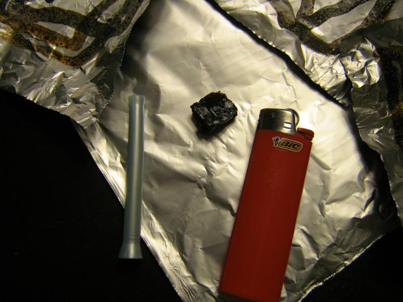 chasing the dragon black tar heroin tinfoil smoking