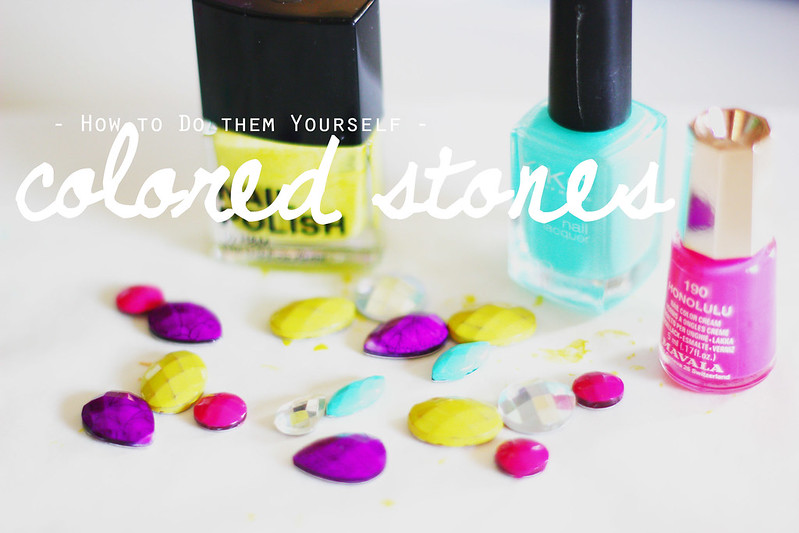 DIY colored stones
