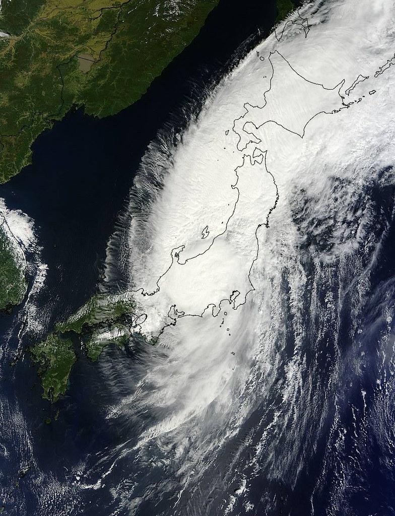 Typhoon Man-yi Across Japan