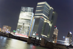 De Rotterdam & KPN Building by night