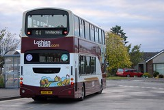 This bus was new to Lothian Buses as 740 in 2005. Seen here at Balerno terminus.  740 seen here at Balerno terminus on a sunny evening after completing a journey fron Wallyford/Tranent/Whitecraig...