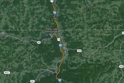 Google Maps extends i-99 north of Williamsport, Pa., PennDOT ...