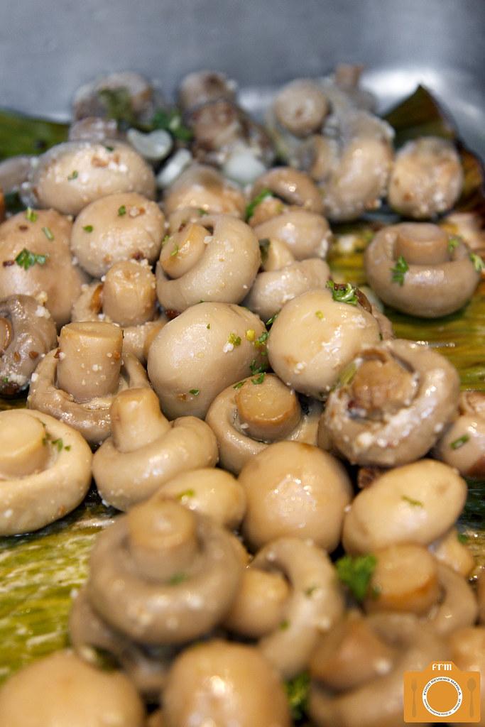 B Hotel Garlic Buttered Mushrooms