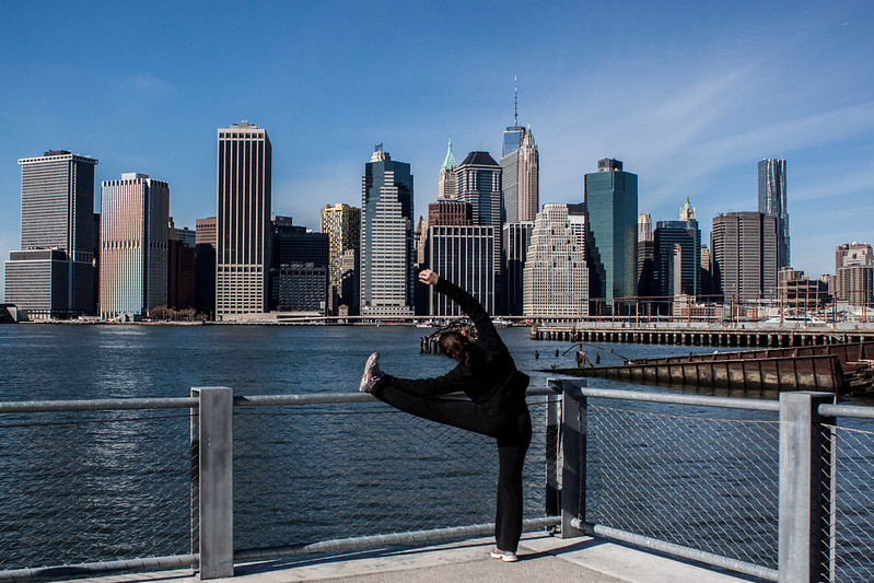 Stretching with a view