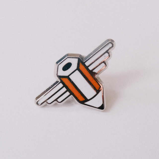 pencil brooch