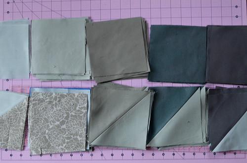 Step 2: Make half square triangles