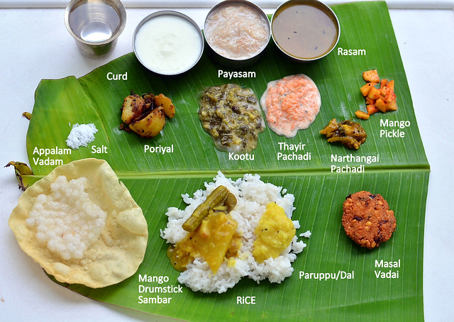 South indian full meals lunch menu for guests thalai for Aharam traditional cuisine of tamil nadu