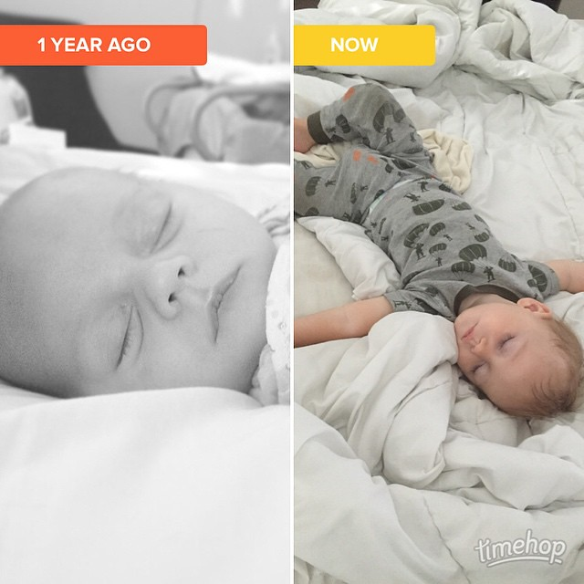 Still my sweet sleepy boy. It's crazy how much he's grown. #timehop by bartlewife