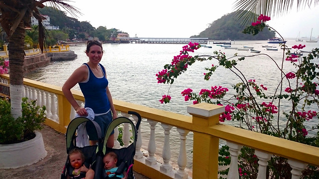 Julie with twins on Taboga Island