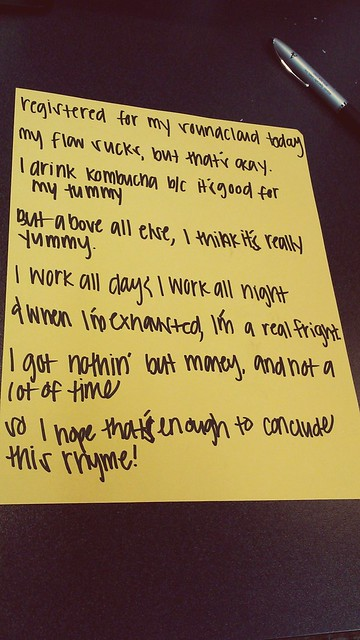 Wrote a rap for #thedailycreate #ds106