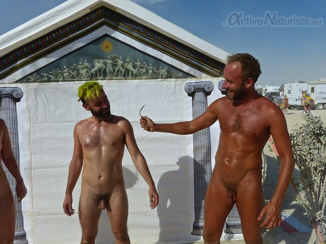 naturist wrestling camp Gymnasium 0001 Burning Man, Black Rock City, NV, USA