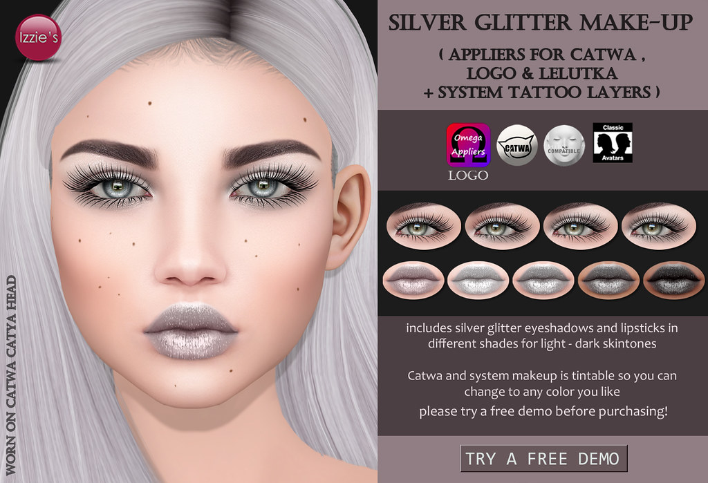 Silver Glitter Make-Up (for #UnitedAndKind)