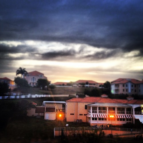 Student center at sunset. #medschoolisland #landscape #sunset #clouds