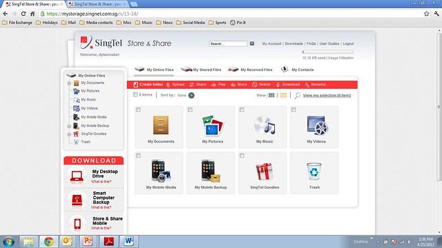 SingTel Store & Share