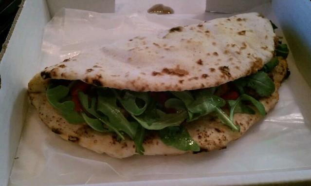 Blacken Chicken Flatbread Sandwich @ Smashing Tomato | Flickr - Photo ...