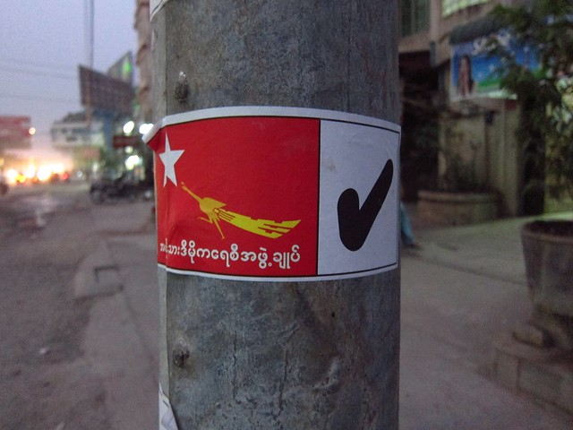National League for Democracy Sticker