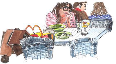 Springtime Café 01 by alain bertin