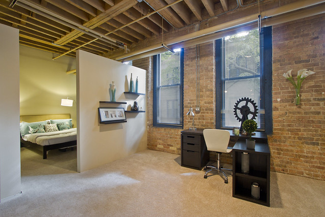Cobbler Square Loft Apartments In Chicago IL Apartment Model Living Room B