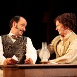 Will LeBow (Thomas Jefferson Calhoun) and Mary Beth Fisher (Alice Calhoun) plan to form an acting troupe and head to California to make their fame and fortune in the Huntington Theatre Company's production of <i>How Shakespeare Won the West</i>, playing at the BU Theatre. Part of the 2008-2009 season. PhotoT Charles Erickson