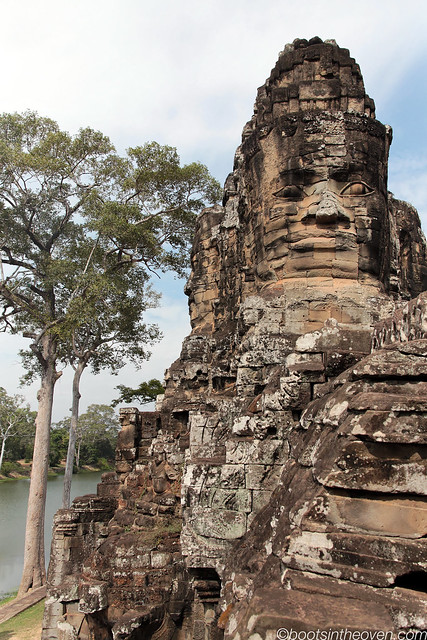 Face on Angkor Thom Entrance